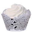 INCR700 - Pack of 12 Cup Cake Wrappers: Hydrangea - Baby Pink
