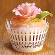 INCR319 - Pack of 12 Cup Cake Wrappers: Picket Fence - Baby Pink