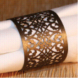 INCR1007 - Pack of 12 Napkin Rings - Filigree - Baby Pink