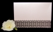 INCR1031 - Pack of 10 Filigree Horizontal Wedding Invitation Cards