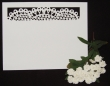 INCR1052 - Pack of 10 Lace RSVP / Thank You Cards
