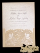 INCR1050 - Pack of 10 Lace Wedding Invitations