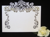 Pack of 10 Rose Vine Place Cards